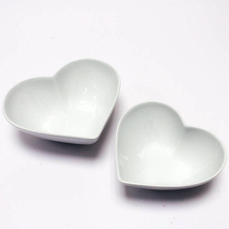 Heart Shaped Bowls Set Of Two http://www.notonthehighstreet.com/lindsayinteriors/product/heart-shaped-bowls-set-of-two