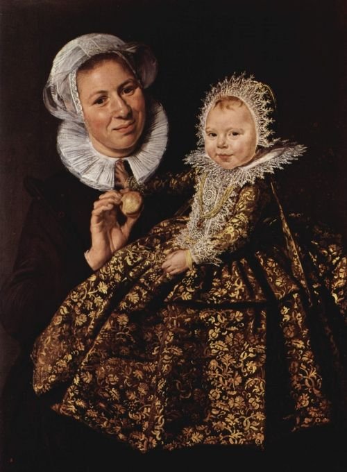 Catharina Hooft with her Nurse |  Original painting by Frans Hals