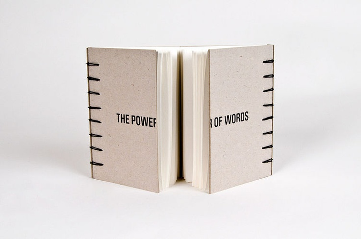 Interactive Print- The Power of Words - using a new format to clarify content, and challenging the norm. Again pretty awesome.
