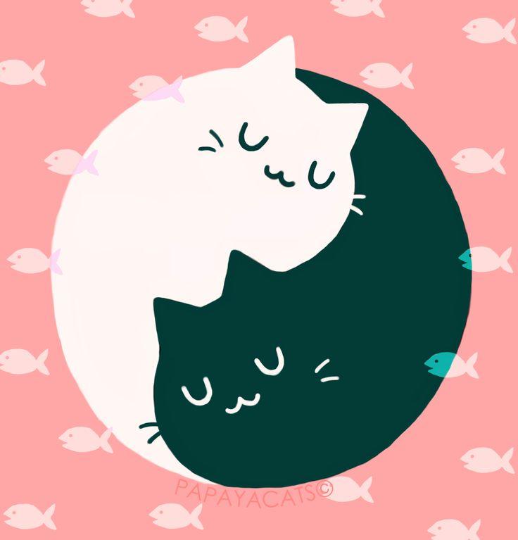 Cat And Dog Ying Yang