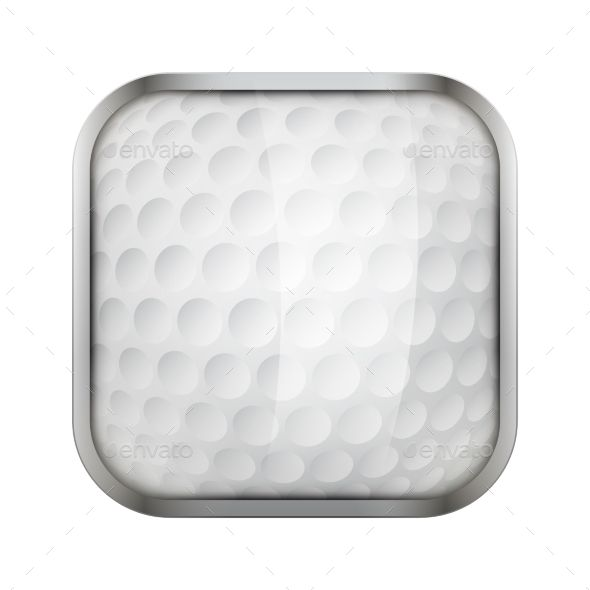 Square Icon For Golf App Or Games
