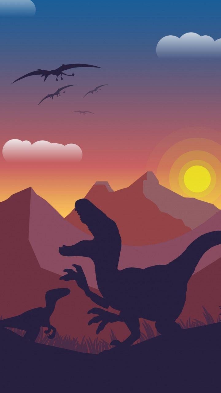 Dinosaur Mountains Digital Art 720x1280 Wallpaper Jurassic World Wallpaper Dinosaur Wallpaper Dinosaur Background