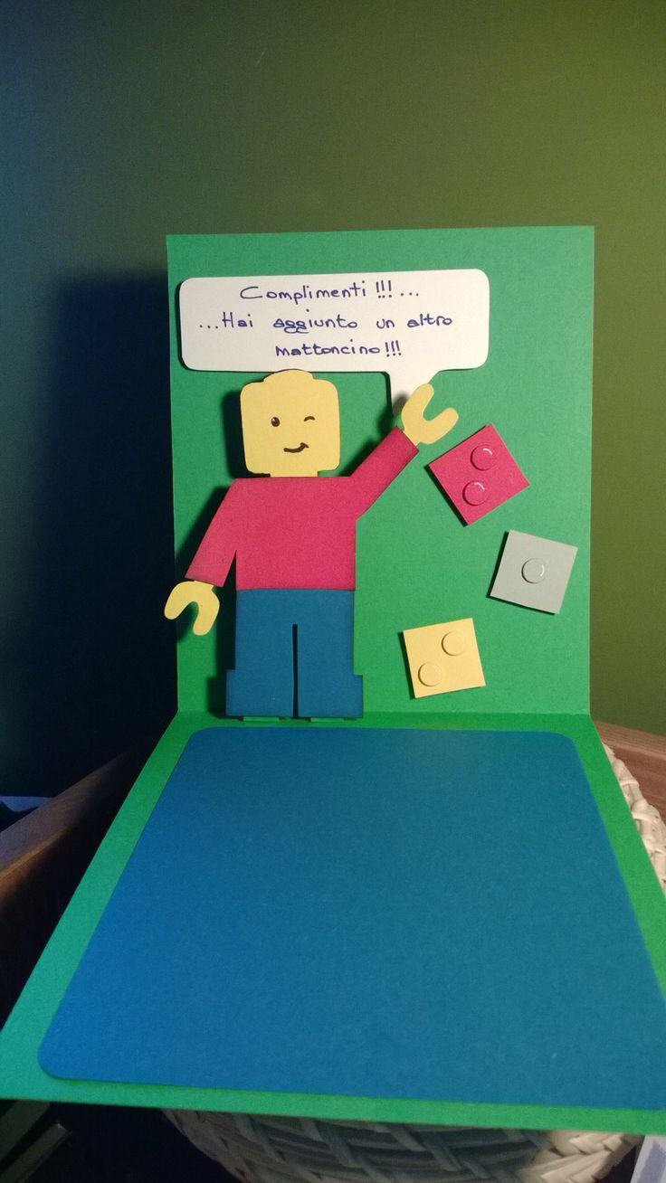 """Biglietto d'auguri """"Lego"""""""