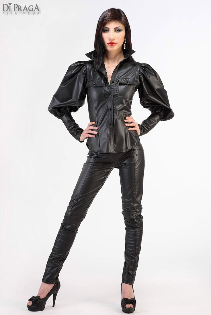 Womens Fashion Leather Pants