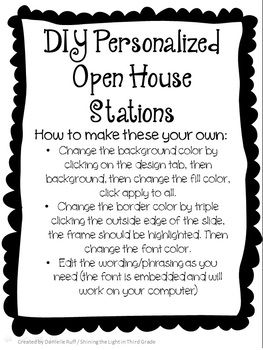 New School! New Open House Stations! I hope you like this years EDITABLE Open House Stations, Sign in Sheets, and Open House Papers (Student Info Sheet, Parent Volunteer Sheet, and Parent Contact Sheet) I tried to embed the fonts...I hope it worked!