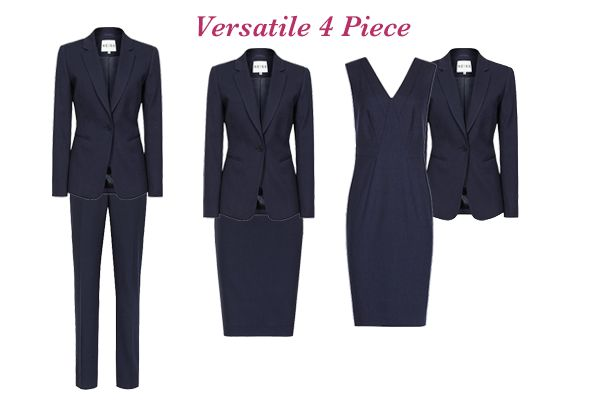 Businesswear capsule wardrobe, choosing a suit, versatile 4 piece http://ht.ly/JdNfh