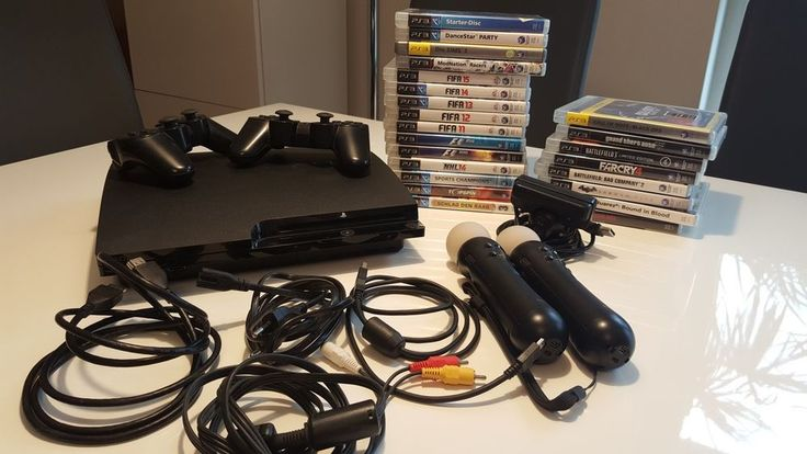 Sony Playstation 3 inkl. Spiele, Controller, Fernbedienung, Move. TOP!