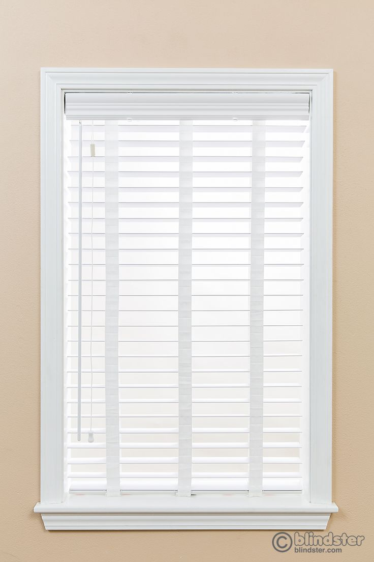 2 Inches Premium Faux Wood Blinds White wood blinds