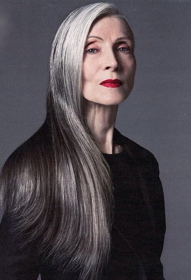 Daphne Selfe  Worlds Oldest Supermodel At 85  Long Gray -3783