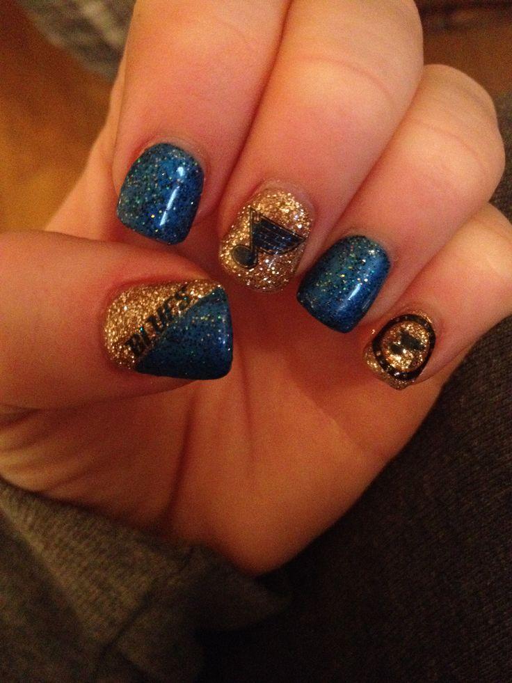 St. Louis Blues nails <3