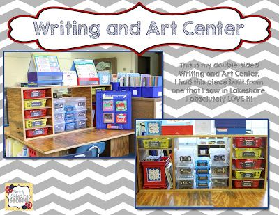 Writing Center Organization - Hopefully some ideas to help you organize this part of your classroom :)