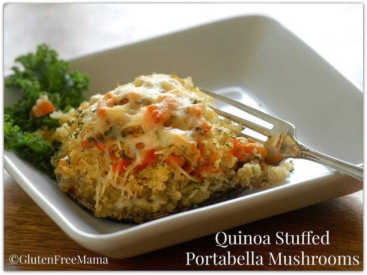 #GlutenFree Mama's Quinoa Stuffed Portabella Mushrooms or Zucchini