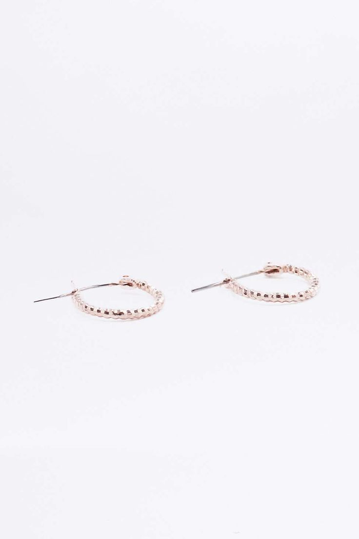Mini Facet Hoop Earrings