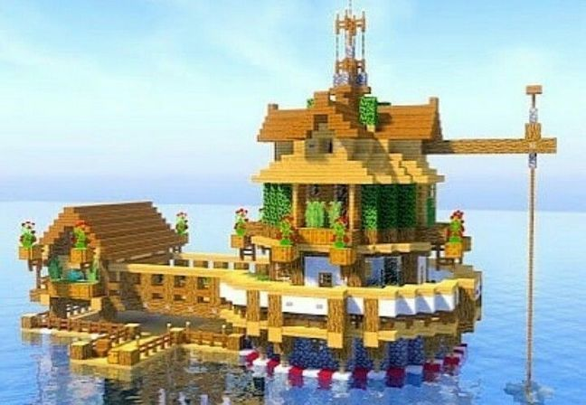 Minecraft Building Ideas For Happy Gaming 40 Inspira Spaces Minecraft Houses Minecraft Construction Minecraft Water House