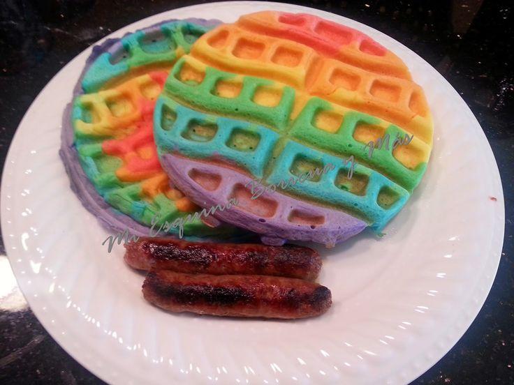 Waffles de Arco Iris