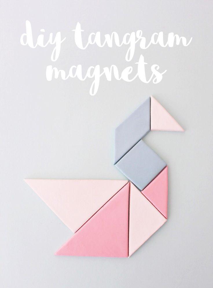 Diy tangram magnets
