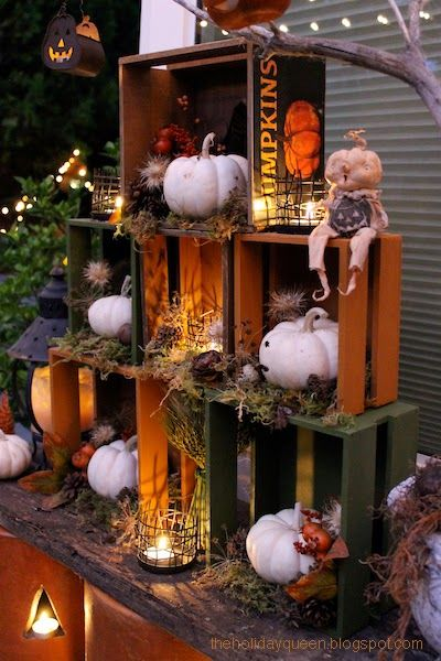 halloween folk art by melissa valeriote - Halloween Display Ideas