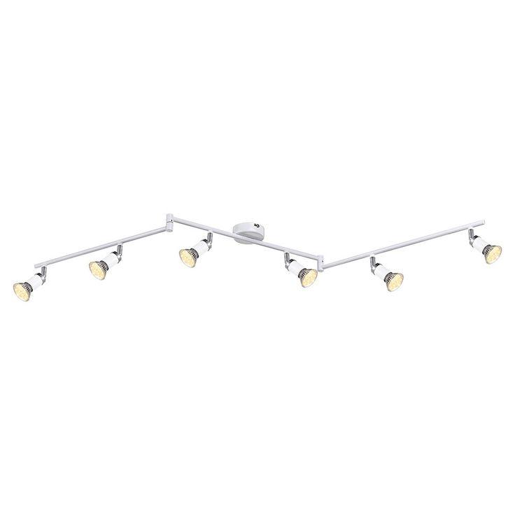 SKAPETZE - Liam / Strahler weiß / chrom / 6xGU10 LED Innenleuchten Strahler / Spots