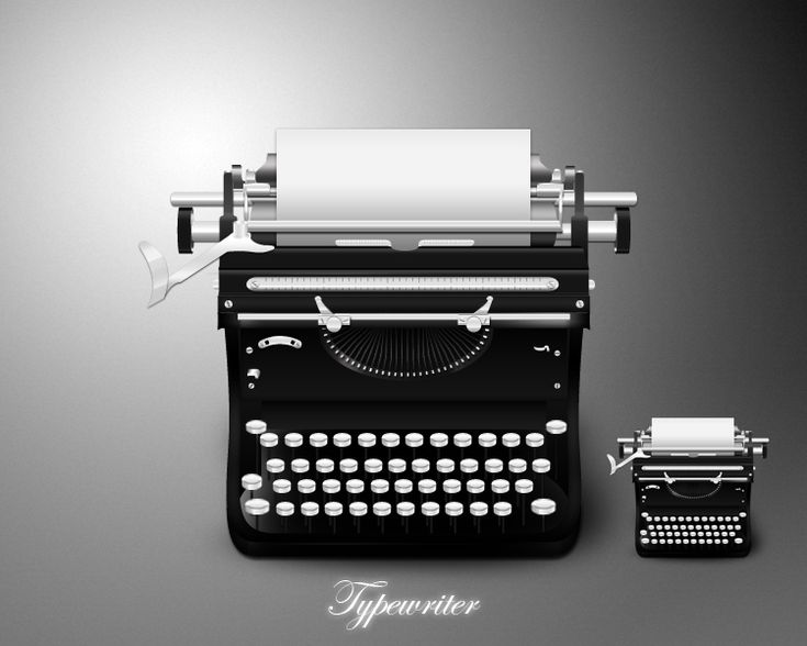 Typewriter icon: Creative commons 3.0 no commercial derivate use.   Beatiful