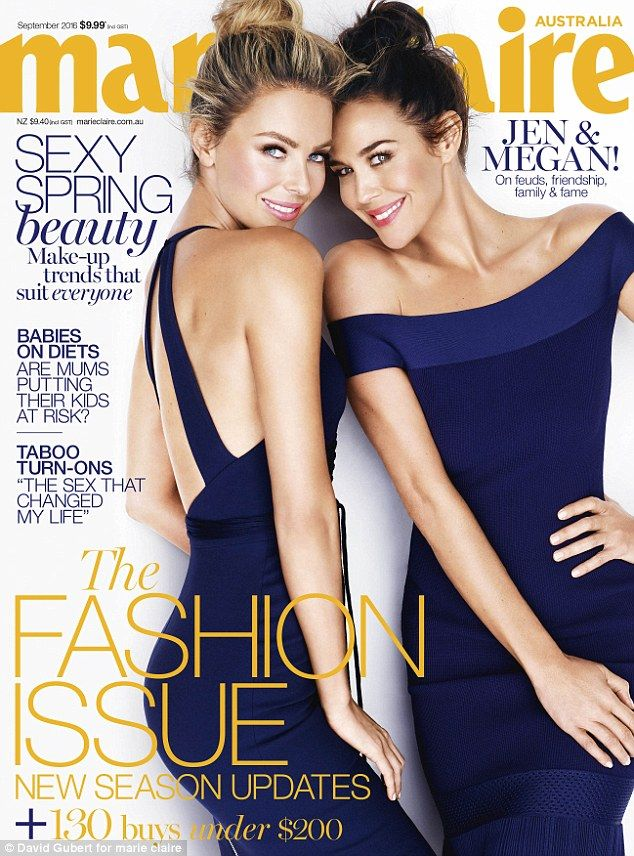 Jennifer Hawkins and Megan Gale for Marie Claire Australia September 2016