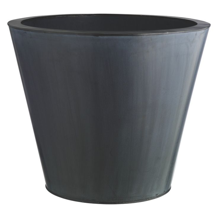 Pallas Black Round Metal Planter 49 5 X 59cm Metal