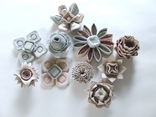 64 best recycled art 3d images on pinterest art Egg carton flowers ideas