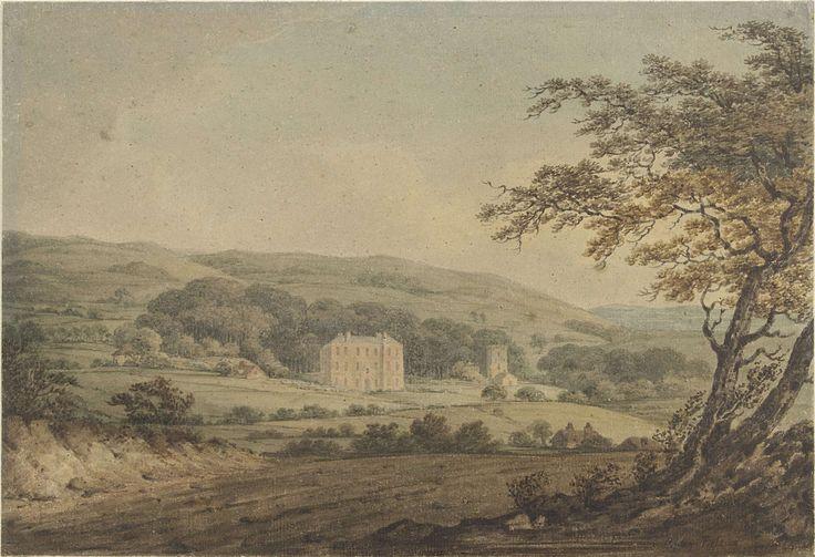 anoniem   Gatcombe House op het eiland Wight, possibly Anthony Vandyke Copley Fielding, 1827 - 1837  