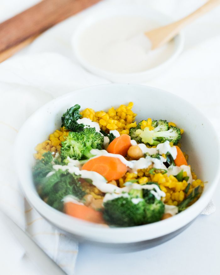Broccoli and Turmeric Yellow Rice Bowls | a Couple Cooks