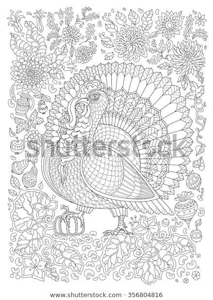 Стоковая векторная графика «Zen Tangle Ornate Bird ...