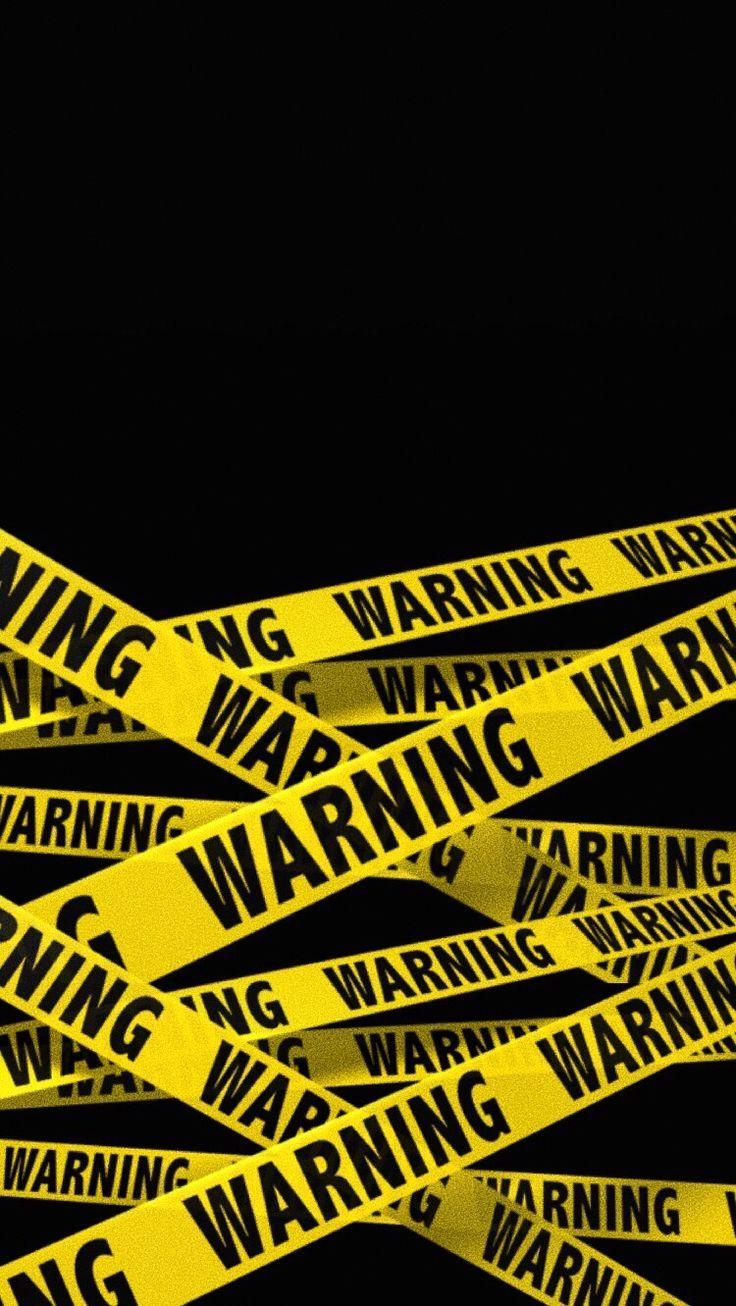 warning tape wallpaper black wallpaper iphone phone