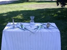 Sand Arrangements for the ceremony