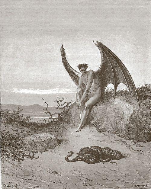 """El demonio del purgatorio de """"La Divina Comedia"""" ilustrada por Gustave Dore"""