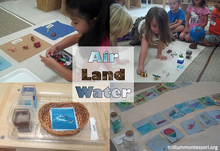 Introduction to geography with a variety of activities, including sorting by air, land, and water, making world maps, and continent folders