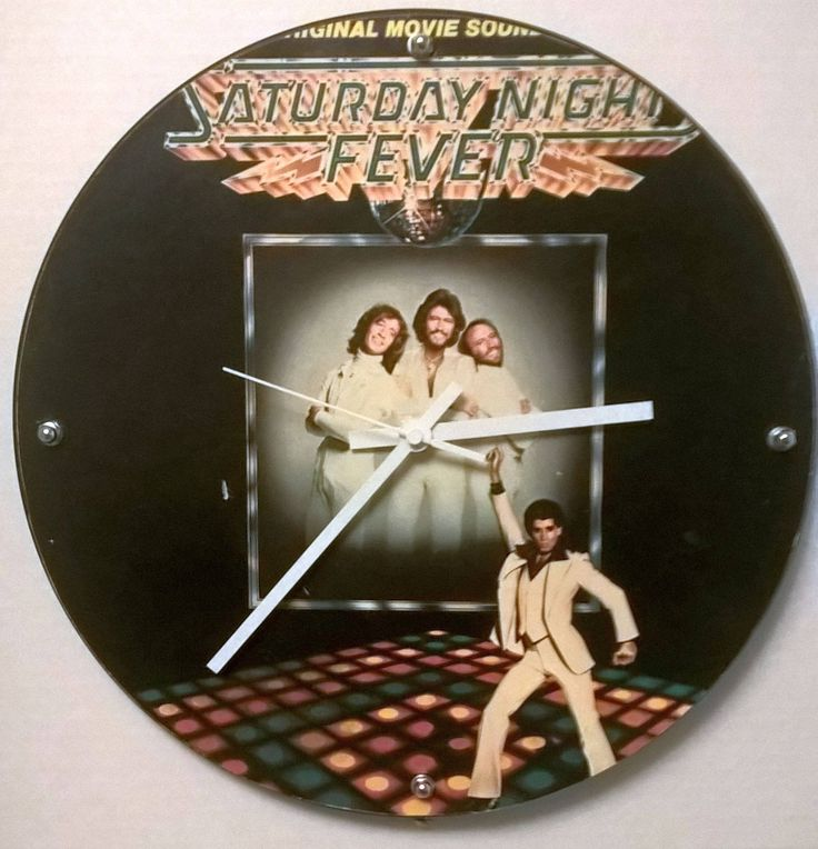 Saturday Night Fever Soundtrack Front Cover Album Rock Clock by RockPopAlbumClocks on Etsy
