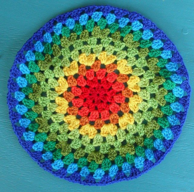 Mandala Crochet Cushion