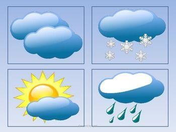 Weather Calendar Cards by Glitter Bubbles | Teachers Pay Teachers