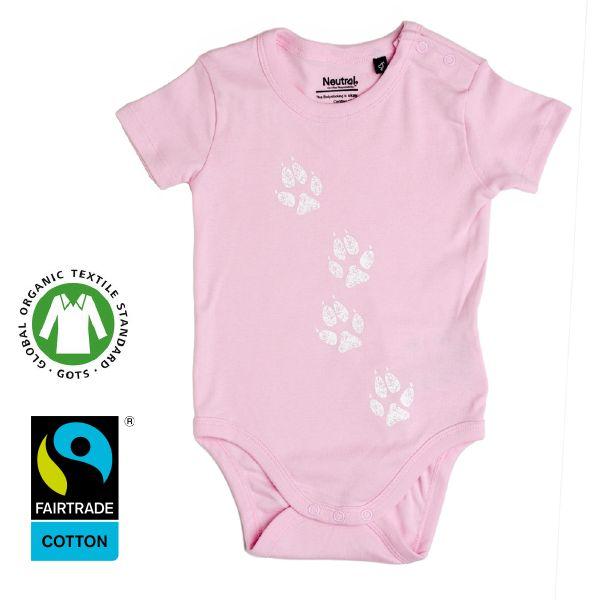 www.klappi.se #Ekologiskabarnkläder från #Lappland #norrland. #eko #ekoreko  #ekologisk #svenskdesign #ekokläder #giftfritt #kläppi #klappi.se  Product: #body #pink #rosa #Lapland #arcticfox #fjällräv. #eco #oekotex100 #lovefromlapland #swedishlapland #fairtrade #organiccotton #organic #scandinavian #schwedischen #organickidswear #kidsfashion #sustainablefashion #sustainable #gots #swedish #swedishdesign #swedishbrand