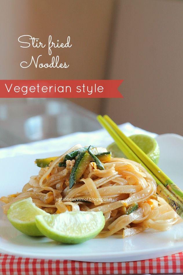 Tagliatelle di riso, vegetarian style