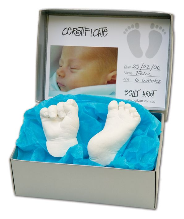3d sculptures using Belly Art Hands and Feet Casting Kit