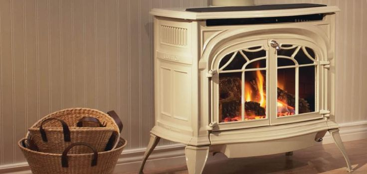 Radiance Direct Vent Gas Stoves by Vermont Castings. The largest of our direct vent gas stoves, the Radiance features realistic split oak logs and ceramic burner to ensure superior flame movement with a realistic ember bed. Two models and four color finishes provide flexibility to upgrade with different features and looks. For ultimate comfort, choose the Radiance.