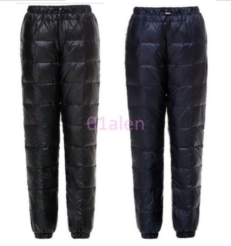 Hot Womens Puffer Unisex Outdoor Winter Ultralight Duck Down Ski Trousers Pants