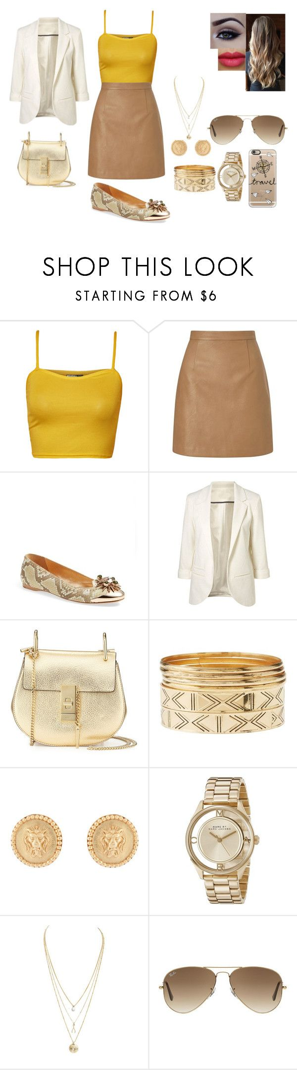 Sin título #75 by danielarivas99 on Polyvore featuring moda, WearAll, Lipsy, Ivy Kirzhner, Chloé, Marc by Marc Jacobs, Julie Vos, Charlotte Russe, Ray-Ban and Casetify