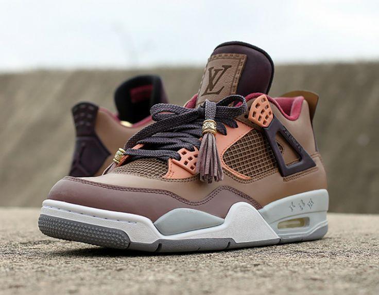 Nike Air Jordan 4 x Louis Vuitton Custom by Dank Customs