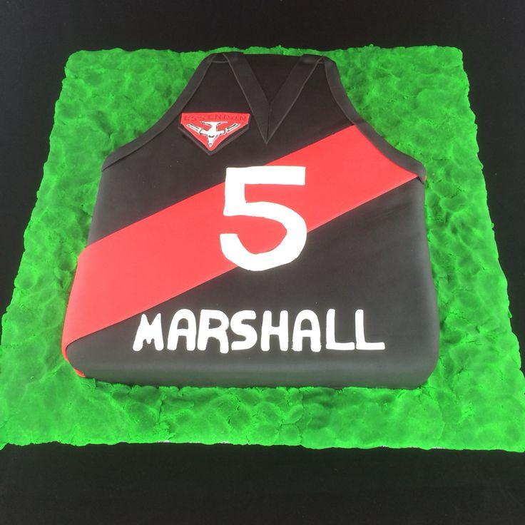 Essendon football club birthday cake.