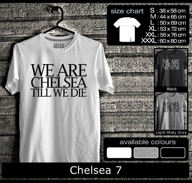 Kaos Chelsea FootBall Club   Kaos Fans Chelsea  True Blue 2
