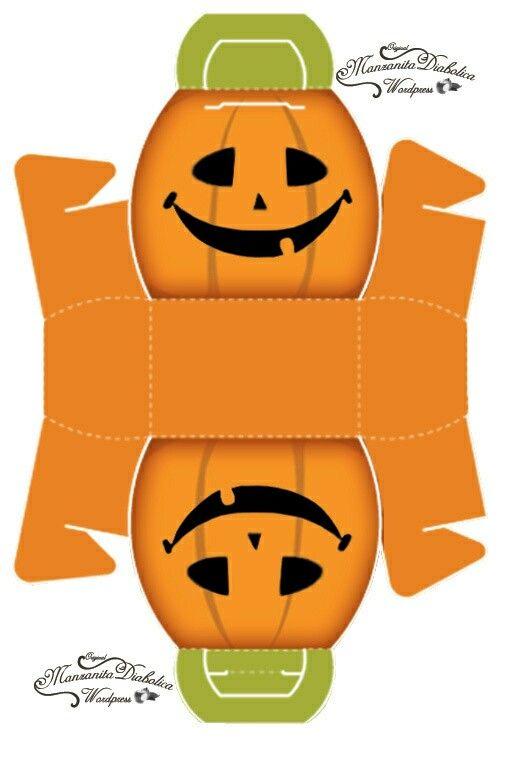 Cajita calabaza, Halloween.