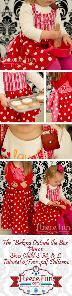 With this Kids apron pattern you can make an apron so cute your kids will never want to leave the kitchen! Comes in three sizes for a perfect fit.