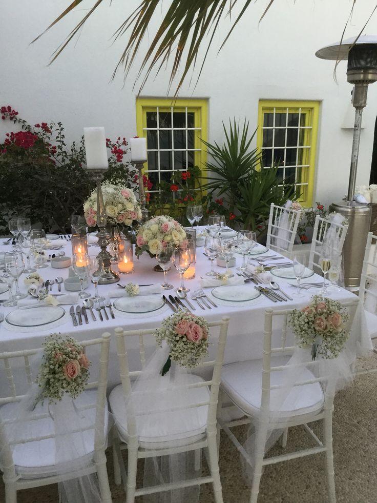 Wedding dinner table,Santorini