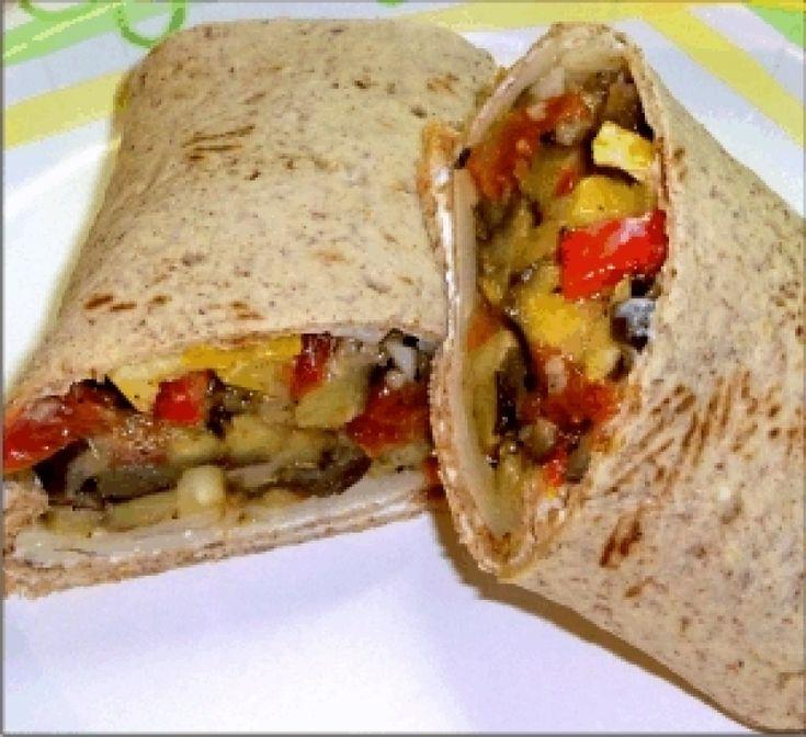 Πίτες γεμιστές με ζαμπόν, φρέσκο τυρί κρέμα και ψητά λαχανικά - gourmed.gr
