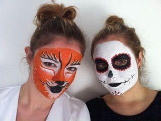 Entrainement maquillage #Halloween #BTS #esthétique #cosmétique, Ecole Agnès Pierrain, Poitiers